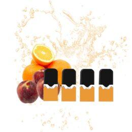 cartouche e-liquide batterie vaze peach orange